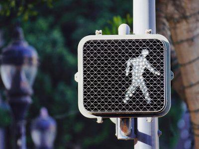 Pedestrian crosswalk sign